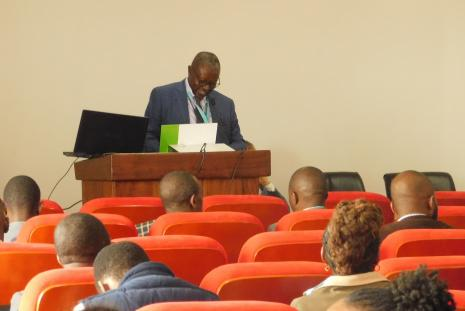 Prof. Nicholas Oguge from CASELAP giving welcoming remarks. Prof. Oguge co-chaired the Conference.